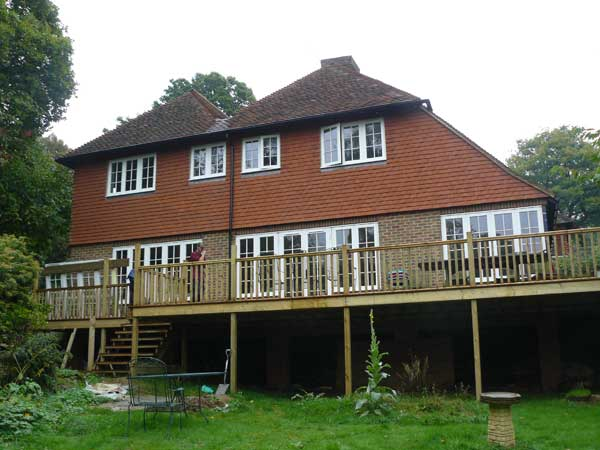 Large Rear Extension and Decking, Sevenoaks, Kent - Lesters Builders