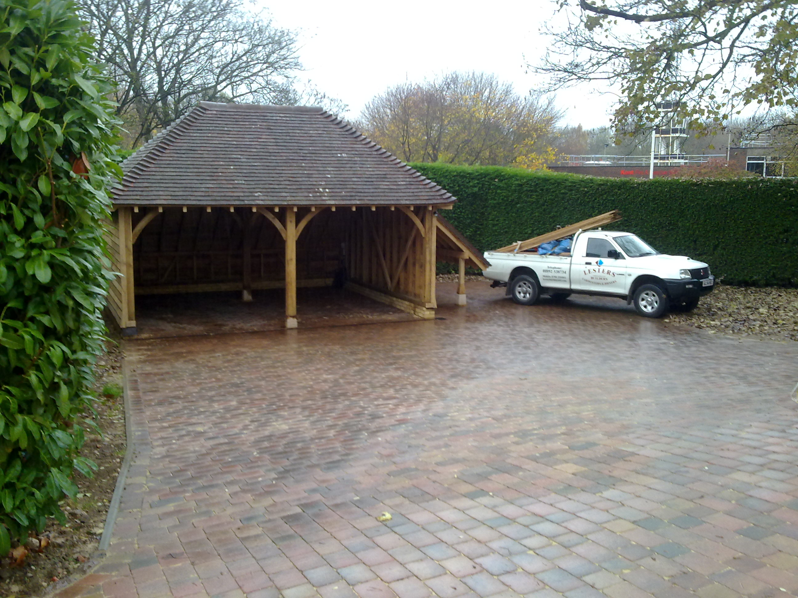 Oak Framed Double Garage, Sevenoaks, Kent - Lesters Builders