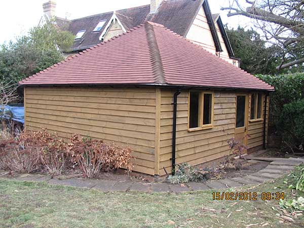 Timber framed garage tunbridge wells kent lesters builders
